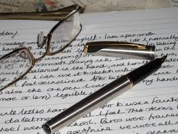 Pen, paper, glasses